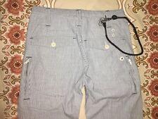 Neu G-Star RAW Jeans Eton Rider Chino W30/L32 Stripe Tapered Summer