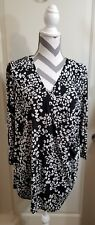 Jenifer lopez Black/ White Blouse Size 1x