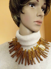 Natural golden coral and amber on of a kind necklace