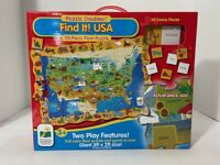 Find It! USA 50 Piece Floor Puzzle 3' x 2' The Learning Journey Pre-Owned VG