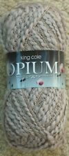 King Cole 100grm Opium Fashion Yarn 8 Shades Available 194 Pebble