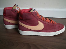 official photos eacdc 54e72 WOMENS NIKE BLAZER HI SUEDE VINTAGE NOBLE RED SAIL (DARK PINK RASPBERRY) UK3