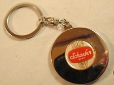 SCHAEFER BEER CHROME PERPETUAL CALENDAR KEY CHAIN RING NEW