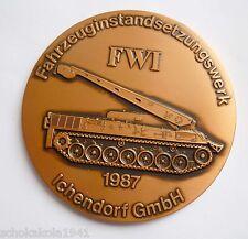 Medaille --Fwi Fahrzeuginstandsetzungswerk Ichendorf Gmbh-- 1987 Bergepanzer