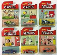 2017 HOT WHEELS PEANUTS DIECAST CARS COLLECTION SCALE 1:64  SET 6