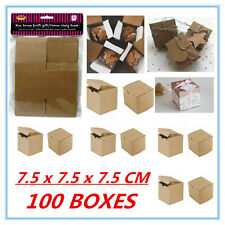 100 PACK MINI SMALL BROWN KRAFT PAPER GIFT BOXES CANDY LOLLY PARTY FAVOUR A