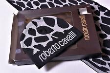 Roberto Cavalli Men's Hat and Scarf Set - NEW in Box - Black & Gray