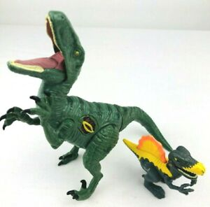 Lot JW Jurassic World Raptors Animated Dinosaur + Mini Figure Velociraptor  *T
