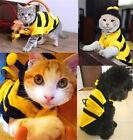 FD3881 Pet Dog Cat Bumble Bee Dress Up Costume Apparel Doggie Hoodies Coats ☆