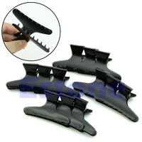 12Pcs Hairdressing Hairdressers Butterfly Hair Claw Salon Section Clip Clamps