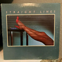 "STRAIGHT LINES - Self Titled (Promo) - 12"" Vinyl Record LP - EX"