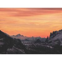 Sunrise Snowy Mountains Large Wall Art Print