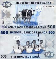 RWANDA 500 Francs Banknote World Paper Money UNC Currency Pick p-38 Cows Bill