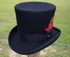 NEW MAD HATTER Black Victorian Caroler Steampunk GNR/Tuxedo Top Hat WF567