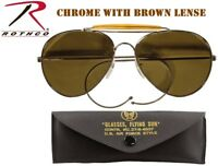d0e5aeb4909 Brown Lense US Air Force Style Military Sunglasses   Case 58mm Rothco 10200
