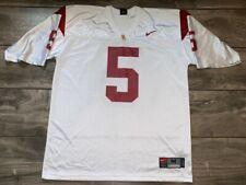 Nike USC Trojans #5 College Football Jersey White SC Men's Medium