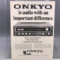 Vintage Magazine Ad Print Design Advertising Onkyo Receiver