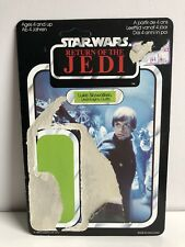 Star Wars Luke Skywalker ( Jedi Knight Outfit ) Cardback Unpunched #2 Vintage