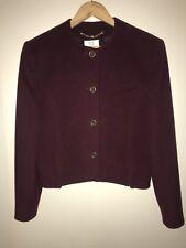 VIYELLA Women's Jacket / Blazer: Wool & Mohair Blend - Size 12 - Made in England