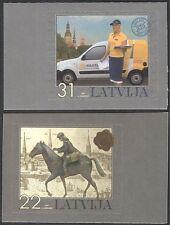 Latvia 2007 Postal Service/Horse/Motor/Van/Animals/Transport 2v s/a set (n29360)