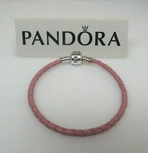 Pandora Small Pink Leather 17.5 CM 6.9 In Bracelet 590705CMP Tarnish on Clasp