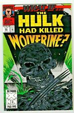 WHAT IF #50 (NM) What if HULK Killed WOLVERINE? Marvel 1993 Embossed Foil Cover