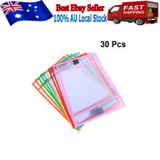 30pcs Dry Erase Pocket Sleeves Write and Wipe Pockets Paper Saver Tool for Kids