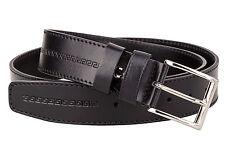 "Cheap Genuine Italian Leather Belt Mens Belts Black Antique Cowhide Embossed 36"""