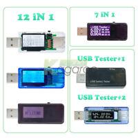 7-in-1 12-in-1 LCD USB Digital Multifunction Voltage Voltmeter Power Detector