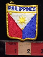 Souvenir Shield Shaped PHILIPPINES Patch ~ Flag Themed 73X7