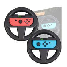Black 2pc joy-con grip steering wheel handle controller for nintendo switch JKC