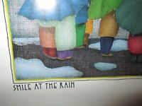 """Art """"Smile at the Rain"""" by Beth Hendrickson Logan Matted Look in Plastic Sleeve"""