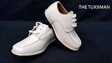 New Infant Baby Shoe Size 4 Ivory Formal Wedding Tuxedo Boys Shoes Ring Bearer
