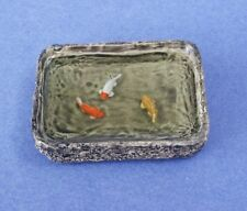 Miniature Dollhouse  Pond With Goldfish 1:12 Scale New