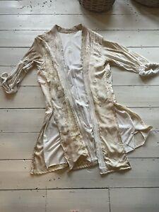 SAMPLE SALE: Vintage Japanese Silk Robe Jacket Handmade DESIGNER 12 14 16