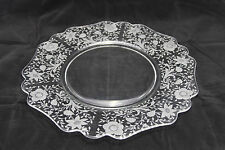 Vintage Elegant Glass Serving Plate