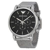 EMPORIO ARMANI AR1808 Classic Chronograph Black Dial Men's Wrist Watch