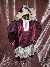 24-26� VictoriOn Doll Dress.,Jacket .And Bonnet.reversible Dress