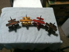 Set of 4 Wooden Airplane Toys