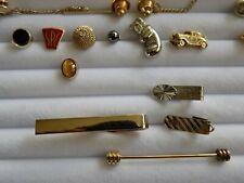 Vintage - modern mens tie tack clip & bar lot