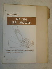 ORIGINAL MASSEY FERGUSON MF 310 SELF PROPELLED PUSH TYPE MOWER PARTS BOOK MANUAL