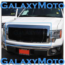 09-14 Ford F150 Front Hood Black Billet Grille+Complete Chrome Shell FX+STX+XLT