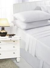 Draps-housses blanches en polycoton pour le lit Chambre à coucher