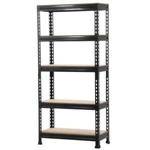 Heavy Duty Steel 5 Level Garage Shelf Metal Storage Adjustable Shelves Unit New