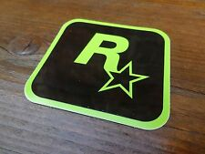 $ $ $ $ $ Rockstar Games noir & Lime LOGO Vinyl Sticker $ $ $ $ $ NEW ENGLAND USA $ $ $ $ $