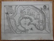 De Fer: View of Genova Liguria Italy - 1695