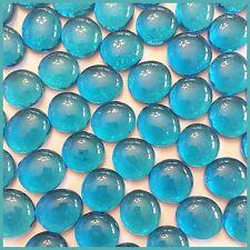 25 ct - 3/4 inch LAKE BLUE See-thru Glass Gems Mosaic Tiles