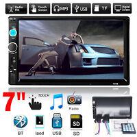 "7"" Tactile écran 2 Din Bluetooth Autoradio Stéréo Video MP5 MP3 Player FM/USB/SD"