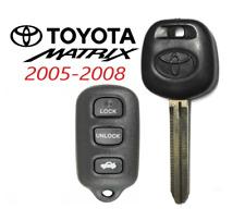 Toyota MATRIX 2005-08 44D Transponder DOT Chip Key + 4 Button Remote GQ43VT14T