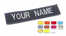 """CUSTOM NAME TAG NAMETAPE AIRSOFT BIKER MILITARY STYLE SEW ON PATCH  4 X 1 """" #P34"""